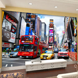3d New York Times Square Traffic Wall Mural Wallpaper Living Room Bedroom Lounge