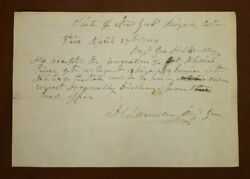 Antique New York Militia Discharge Paper Signed By Brig. General In 1844