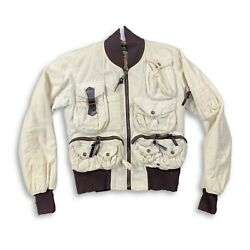 Vintage Dolce And Gabanna Aw03 White Fur Hunting Jacket 44