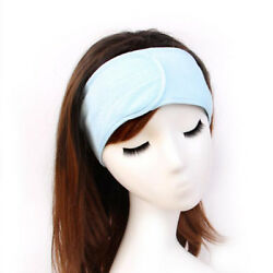 Soft Adjustable Towel Hair Wrap Head Band for Make Up Facial Salon Spa MA