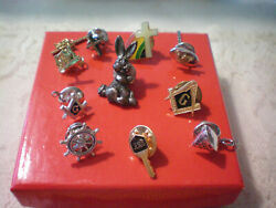 Lot Of Vintage Lapel Pins Religious Masonic Bunny Others Unique And Obscure