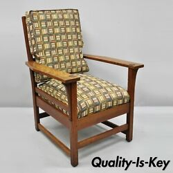 L And Jg Stickley Mission Oak Arts And Crafts Lounge Arm Chair Spring Seat Cushion