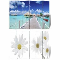 Folding Screen Luxury Printing Double Sides Privacy Screen Room Divider