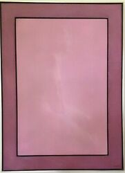 Mirage D'esprit Pink Nude Painting By Larry Gluck In St.thomas, V.i Signed.