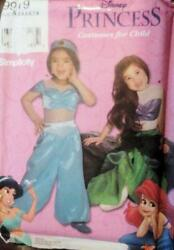 Simplicity Sewing Pattern 9919 Girls Childs Mermaid Costumes Size 3-8