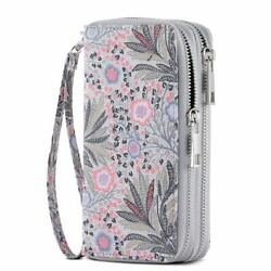 Hawee Cellphone Wallet For Women Dual Zipper Long Purse With Removable Wristlet $34.16