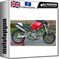 Spark 2 Exhaust High Approved Titanium Round Ducati Monster 600 2000 00