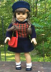 Sale American Girl Doll Molly In Original Outfit Retired With Bonus Dog