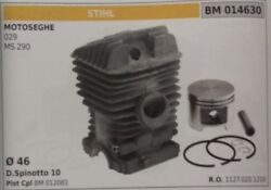 11270201210 Cylinder And Piston Complete Chainsaw Stihl Ms 290 029 Ø 46