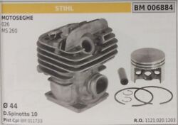 11210201203 Cylinder And Piston Complete Chainsaw Stihl 026 Ms260 Ø 44