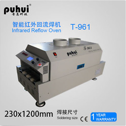 New Led T961 Reflow Oven Bga Smt Sirocco And Rapid Infrared Soldering Machine Y