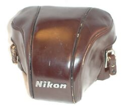Nikon Vintage Leather Camera Case / Cover And Set Of Close-up Filters