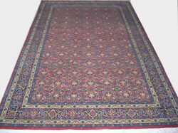 Hand-knotted Wool Persion Carpet Red Quality Area Rug 5x8 Ft. 150x240 Cm.