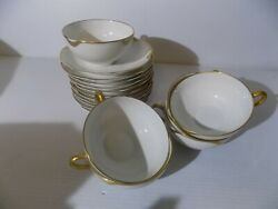 20 Pc .vintage Cups And Saucers Haviland Limogessilver Anniversary