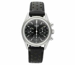 TAG HEUER CARRERA CHRONOGRAPH STAINLESS STEEL BLACK DIAL ON BLACK PERFORATED ...