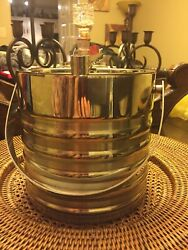 Silver Ice Bucket Cooler Heavy Duty Very High Quality In Excellent Condition