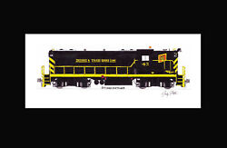 Detroit And Toledo Shore Line Gp7 43 11x17 Matted Print Andy Fletcher Signed