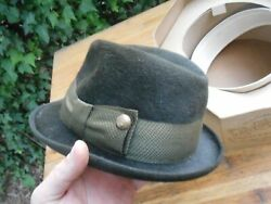 Vintage Hopkins Green Baltimore Fedora Hat Andalusia Alabama St Patrickand039s Day