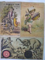 Vintage Large Collection Advertising Cards Coats Dumbo Clarks And More 1880's