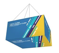 Rectangle Cube Hanging Sign 2.62'x 1.96'x 1.96' Tradeshow Display Ceiling Banner