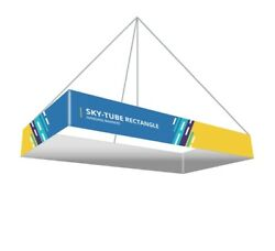 Rectangle Hanging Ceiling Banner Sign, 20' X 4' Tradeshow Display Hanging Sign
