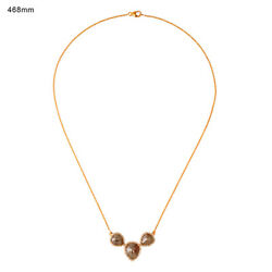 8.96ct Natural Ice Diamond 18kt Solid Yellow Gold Womenand039s Chain Necklace Jewelry