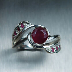 1.2cts Natural Ruby Pigeon Blood Red 925 Silver / 9ct14k 18k Gold/ Platinum Ring