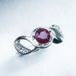 1.1cts Natural Ruby Pigeon Blood Red 925 Silver / 9ct14k 18k Gold/ Platinum Ring