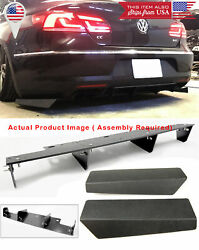 3 Pieces Rear Bumper Splitter Diffuser Shark Fins Wing Spoiler For 12 17 VW CC $69.99