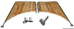 Osculati Stainless Steel And Iroko Platform For Round Stern Hull 650x470x950mm