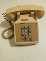 Vintage Western Electric Pink Push Button Desk Phone Model 2500mm Touch Tone