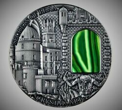 Niue 2014 2 Crystal Art - Secrets Of Pena 2 Oz Silver Coin With Crystal Window