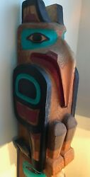 TOTEM POLE from Alaska  carved by well-known artist Doug Chilton Yaa nak ch