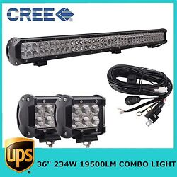 36inch 234w Led Spot Flood Light Bar With 18w Pods Kit For Jeep Off Road Ute 4wd