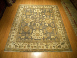 8 X 10 Hand Knotted Handmade Vegetable Dyes Hand Spun Fine Soft Wool Oushak Rug
