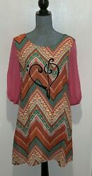 Rachel Kate Small Dress 70s Look w Unique Design Feature only Available Here $34.98