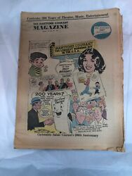 Hartford Courant Newspaper Magazine October 25 1964 Connecticut Pull Out Section