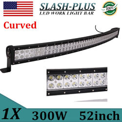 52inch 300w Curved Led Light Bar Flood Spot Combo Driving Truck Boat Suv 4wd Drl