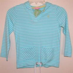 NWT Lilly Pulitzer Essy Hoodie Stripe Robins Egg Blue Jungle Princess Stripe 5
