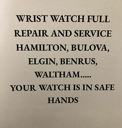Vintage Wristwatch Full Repair And Service Just Service No Watch