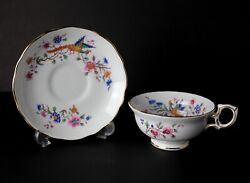 Hammersley Bird Of Paradise Bone China Tea Cup And Saucer. T. Goode And Co. Ltd