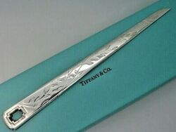 And Co. Sterling Silver Bamboo Letter Opener In Pouch And Box