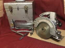 Vintage Porter Cable Circular Saw Model 508 Speedmatic W/exras Rare
