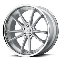 Asanti Abl-23 Delta 20x10.5 5x120 Et38 Brushed Silver With Chrome Lip Qty Of 4
