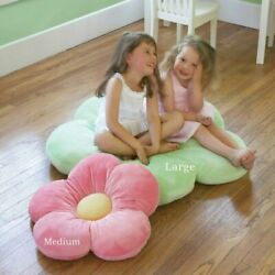 Heart To Heart Girls Flower Floor Pillow Seating Cushion A Reading Nook, Bed Roo