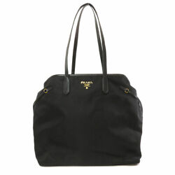 PRADA   Tote Bag Logo design Nylon