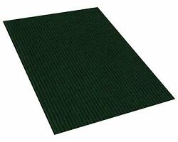 Green Indoor/outdoor Area Rug Carpet With A Rubber Non-slip Backing 1/4 Thick