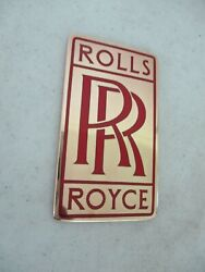 Rolls-royce Grill Badge Red Used From 1904 To 1932