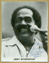 Jimmy Witherspoon 1920-1997 - American Jump Blues Singer - Signed Large Photo