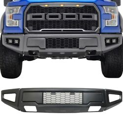 For 15-17 Ford F150 Raptor Style Conversion Painted Grey Steel Front Bumper New